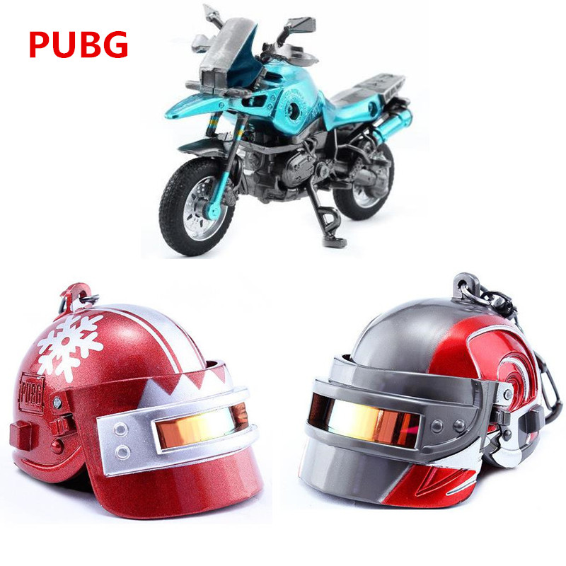 PUBG Game Playerunknown's Battlegrounds Cosplay Props Christmas Level 3 Helmet Armor Motorcycle Keychain Pendant Kids Adults Toy