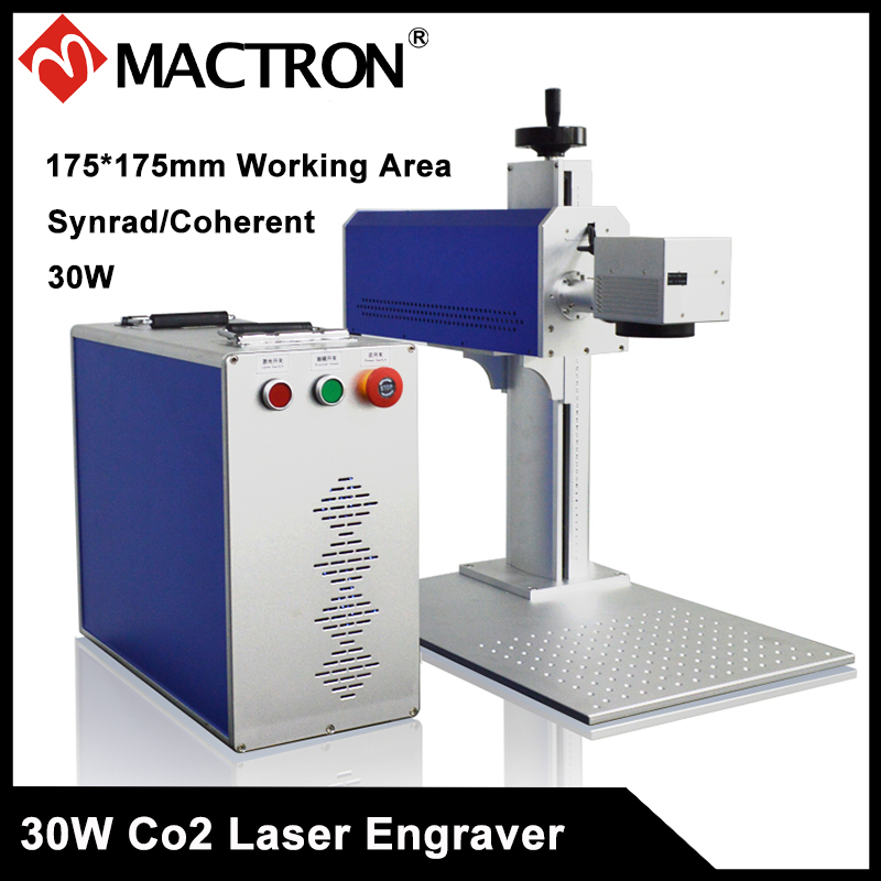 Long Lifetime 30W Synrad/Coherent Air Cooling Co2 Laser Marking and Engraving Machine