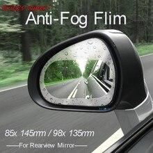 Erick der Wischer 2x Auto Rückspiegel Schutz Film Anti Nebel Klaren Fenster Regendicht Rückspiegel Schutz Weichen Film auto