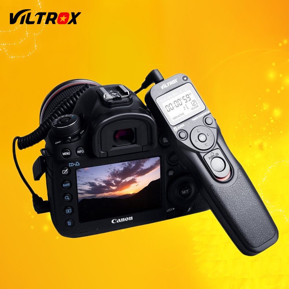 Viltrox MC-C3 LCD Timer Remote Shutter Release Control Cable Cord for Canon 7D II 6D II 5D Mark IV 5DIII 50D 40D 30D 20D 10D 1D rs 80n3 wired remote shutter release for canon 5d mark iii 5d mark ii more black 85cm cable