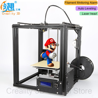 NEW!!CREALITY 3D Ender 4 Auto Leveling Laser Core XY 3D printer V Slot Frame 3D Printer Kit Filament Monitoring Alarm Potection
