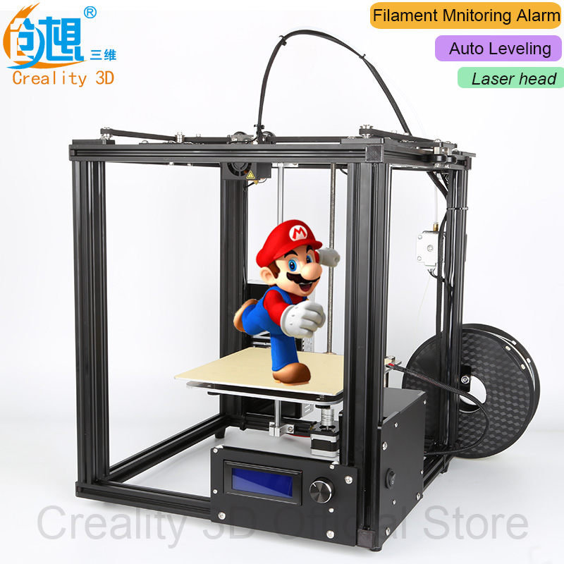 NEW!!CREALITY 3D Ender 4 Auto Leveling Laser Core XY 3D printer V Slot Frame 3D Printer Kit Filament Monitoring Alarm Potection