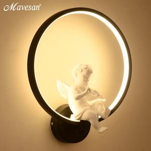 Image 3 - Lampe murale minimaliste, éclairage dintérieur, avec oiseau ange, en noir et blanc, décoration pour la maison, offre spéciale