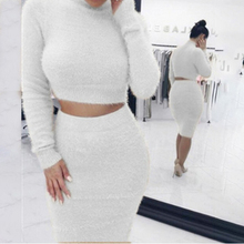 VAZN 2018 Casual Style 2 Piece Women Solid O-Neck Full Sleeve Short Pants Bodycon Set