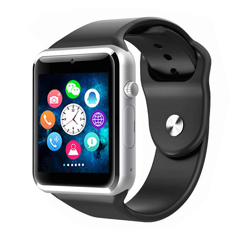50pcs A1 Smart Watch Bluetooth WristWatch Sport Pedometer with SIM Camera Smartwatch For Android Phone Russia