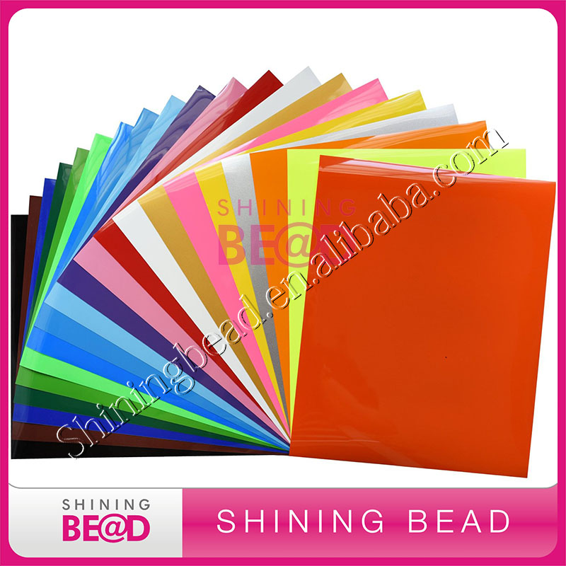 10 color iron on heat transfer vinyl pack 10 sheets each one 12 in x 10 in pu htv for cricut and silhouette - Cricut Vinyl Colors