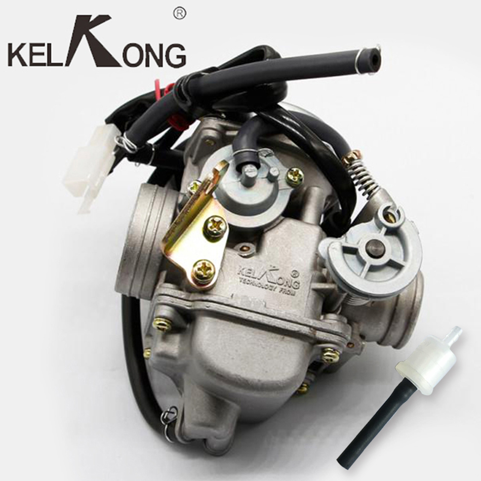 KELKONG New GY6 125cc 150cc Motorcycle Carburetor Carb For BAJA Scooter ATV Go Kart Scooter Moped 125cc PD24J Motorcycle parts starpad for heroic gy6 125cc 150cc moped carburetor