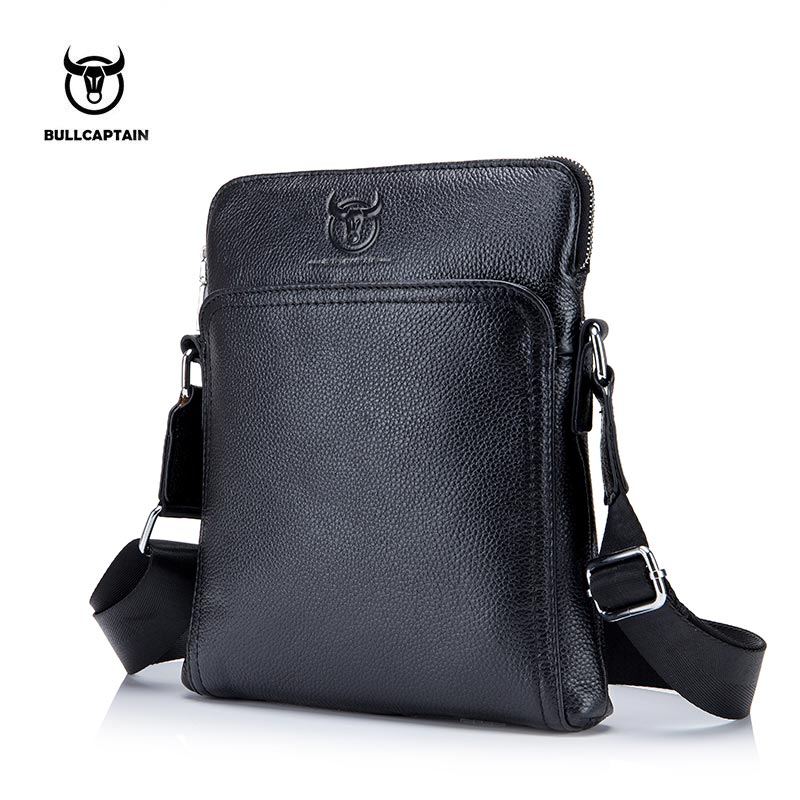 BULLCAPTAIN New Fashion Brand Men Bag Genuine Leather Messenger Bag Business Casual Briefcase Crossbody bag male shoulder bag
