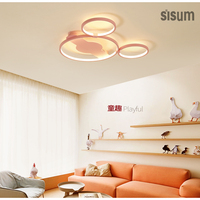 2018 New Design LED Acrylic Alloy Mickey Head Modern Macaron Ceiling Lamps baby Children room lamp ceiling kids room decor lamp