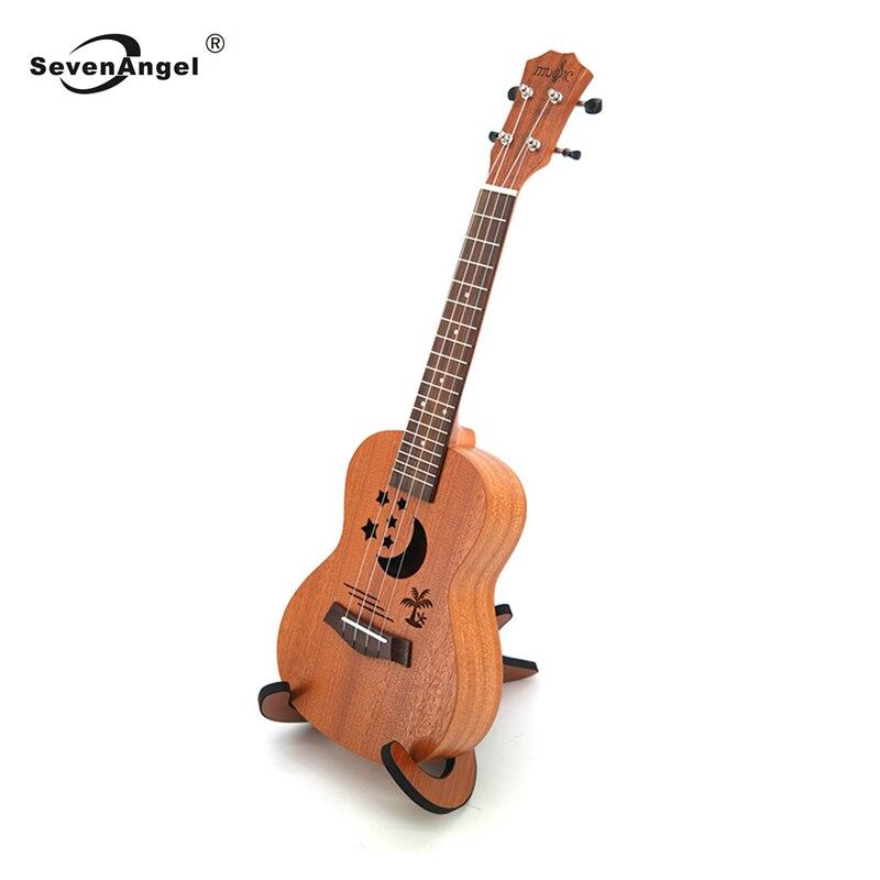 Guitare ukulélé électrique acoustique 23 pouces 4 cordes Mini guitare hawaïenne Ukelele sapele Body Star Moon partten avec micro EQ
