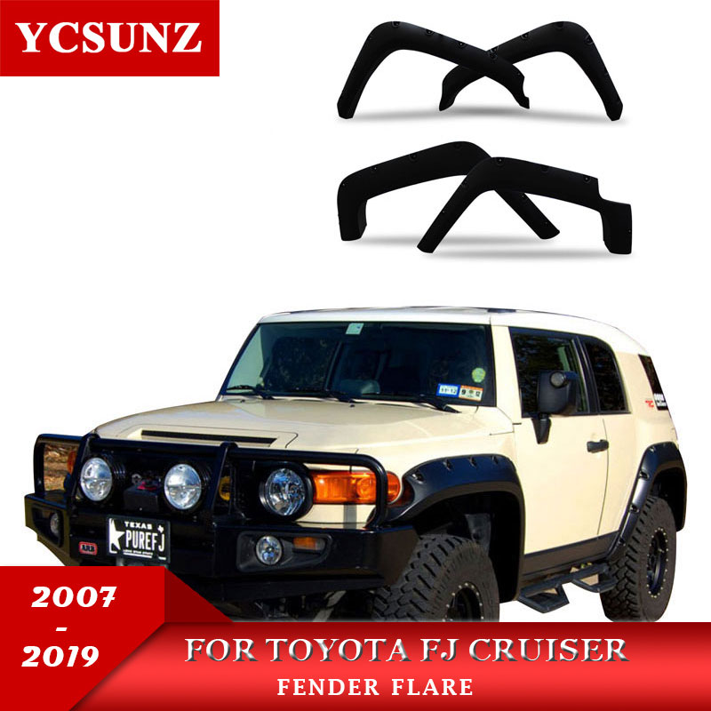 Wheel Arch Fender Flare Car Accessories Black Pocket Rivet Mudguards For Toyota FJ Cruiser 2007-2019