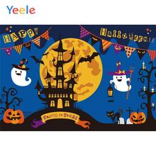 Yeele Halloween Night Moon Ghost Bats tombs Castle Photography Backdrops Personalized Photographic Backgrounds For Photo Studio