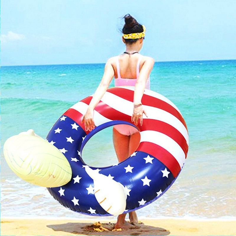 Image 3 - Trump Pool Float Inflatable Swimming Ring Donald Trump  Swimming Pool Floats-in Furniture Accessories from Furniture