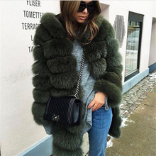 TOPFUR 2018 New Winter Natural Real Fox Fur Thick jacket Women Warm With Hood Casual Plus Size