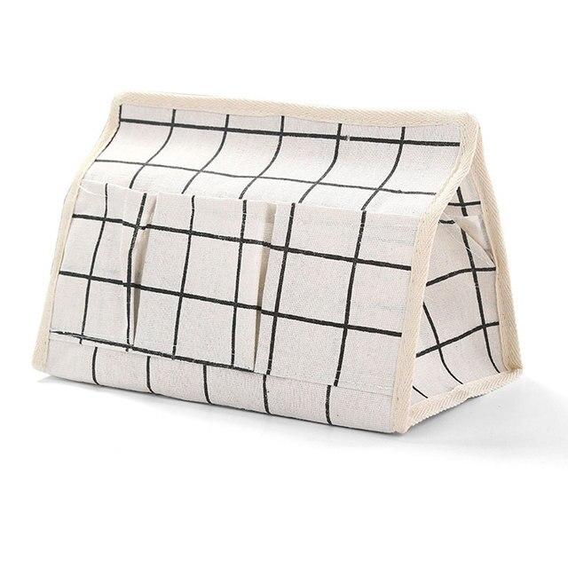 Sundries Titular Controle Remoto Six-bolso Caixa de Toalha de Papel Caixa De Armazenamento De Desktop Organizador de Linho de Algodão Home Decor