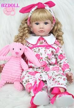 Princess Toddler Girls Babies Dolls With Plush Rabbit