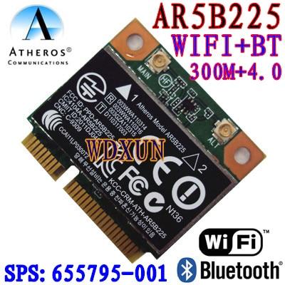 Atheros AR5B225 WIFI Half MINI PCI-E Card Wireless Bluetooth 4.0 Exceed 6230 6235 300M wifi+4.0BT