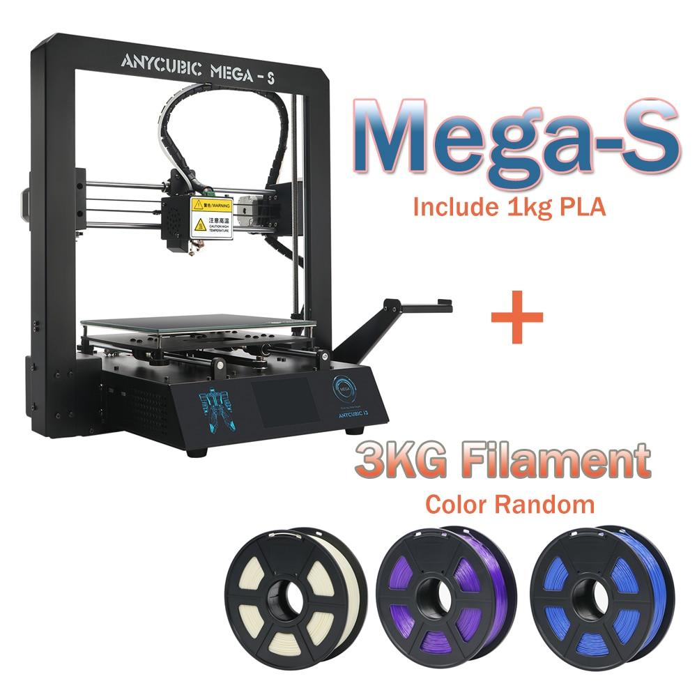 3-d-drucker Anycubic Mega-s 3d Drucker Mega Upgrade Große Plus Größe Volle Metall Tft Touch Screen 3d Drucker Hohe Präzision 3d Drucker