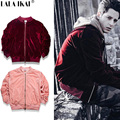 Solid Velvet Bomber Jackets Men Kanye West Yeezy Oversize Thick Jackets Men Winter Coat Kanye Ma1 Bomber Jackets Brand SMC0569-5