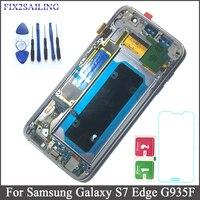 5,5 ''SUPER AMOLED ЖК дисплей для SAMSUNG Galaxy S7 край G935 G935F Сенсорный экран планшета Дисплей с рамкой для S7 край Бесплатная доставка