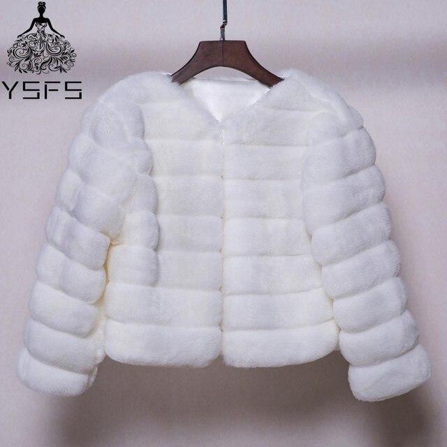Veste fourrure synthetique blanche