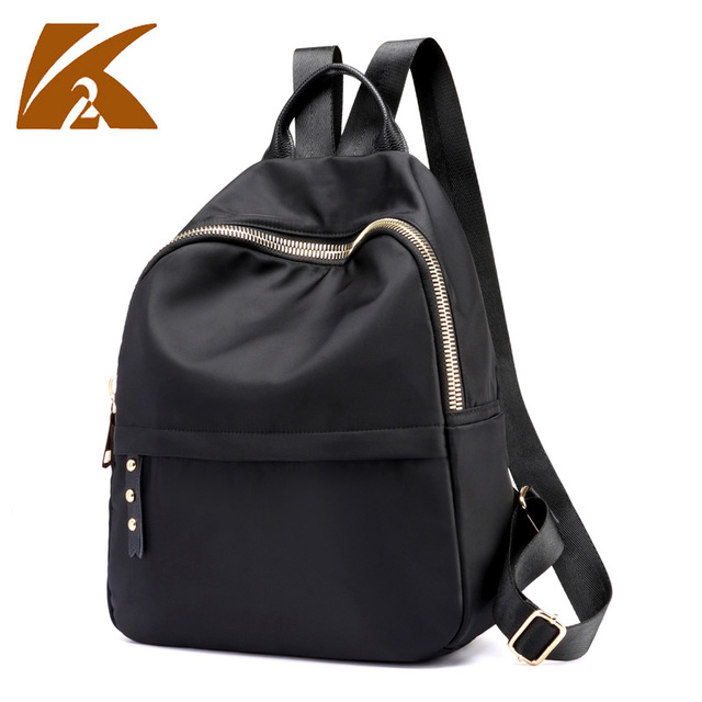 b916feddd140 new double shoulder bag mini back pack black waterproof backpack women nylon  bolsas feminina mochila mujer fashionable backpacks