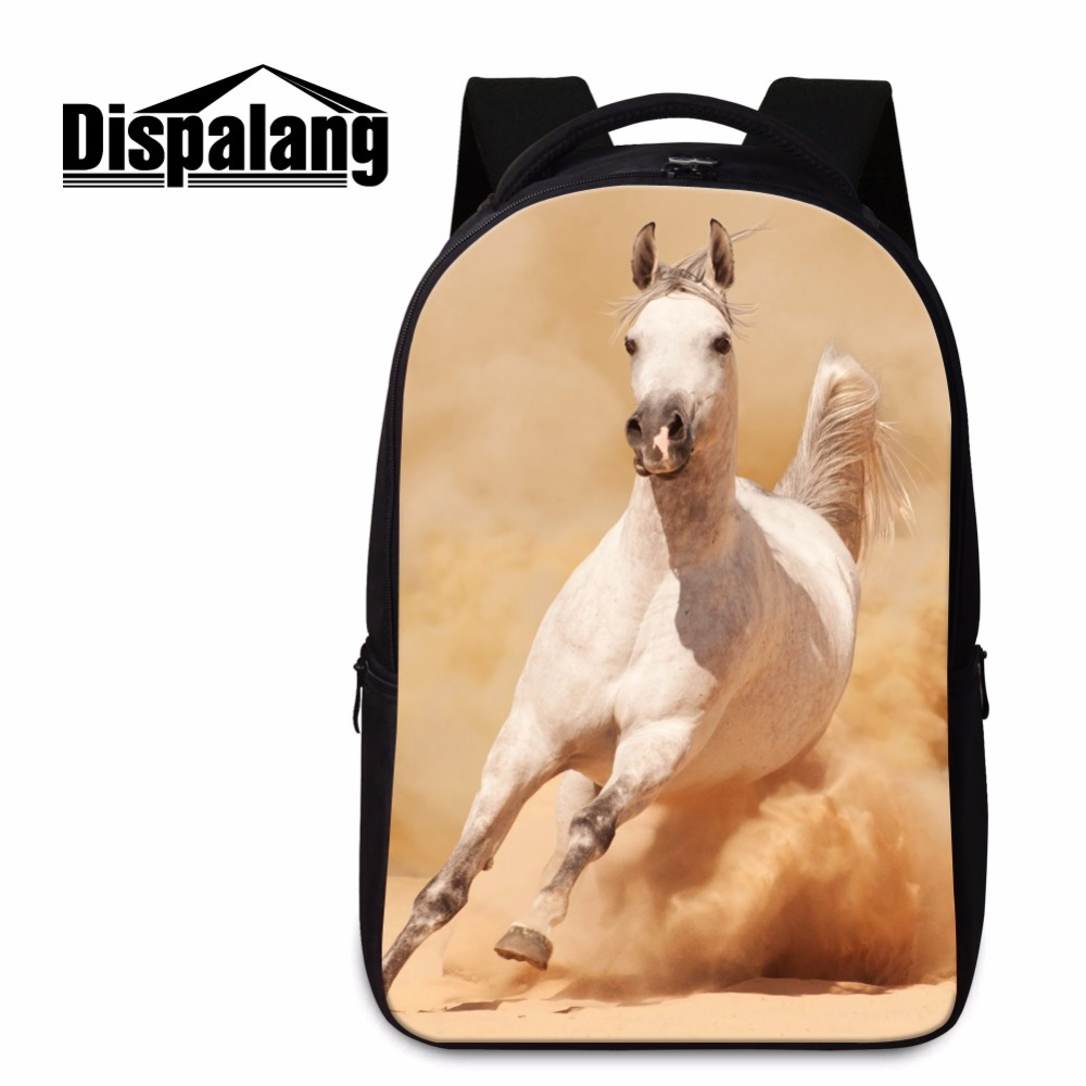 School bags for youth - High Quality Animal Horse School Bags For College Horse Backpacks For Boys Teenager Bookbags Laptop Computer