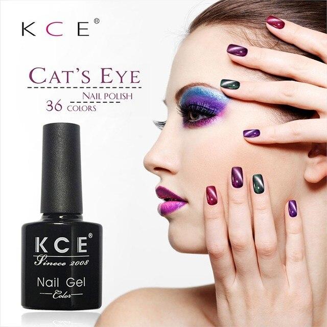 KCE Абсолютно УФ-клей Для Ногтей Маникюр LED Кошачий Глаз 36 Цвет 10 мл Здоровый кошачий глаз ногтей И Зеленые Пластиковые краски, Сделанные В китай