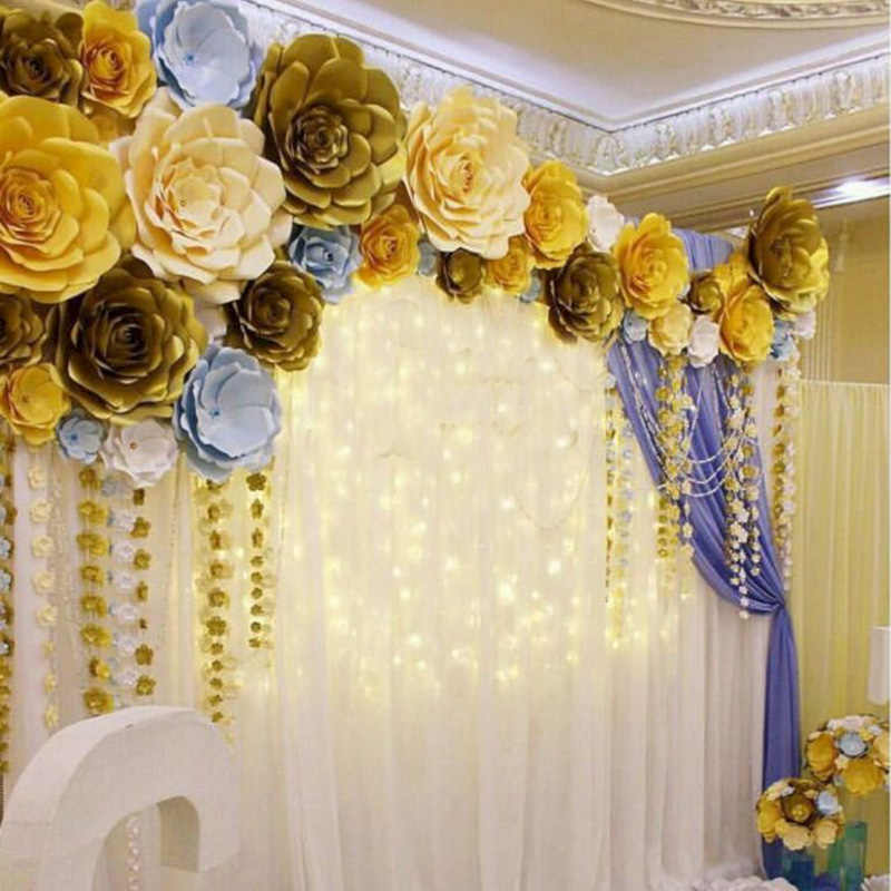 Wedding Flower Decoration Photos: 1pcs 30/40cm Paper Flower DIY Artificial Flowers Birthday