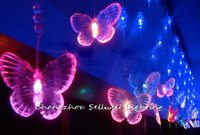 Artificial Christmas Tree Great!led Christmas Light Showcase Entrance Decoration 5m Coloured Butterfly Bead Curtain Lamp H127
