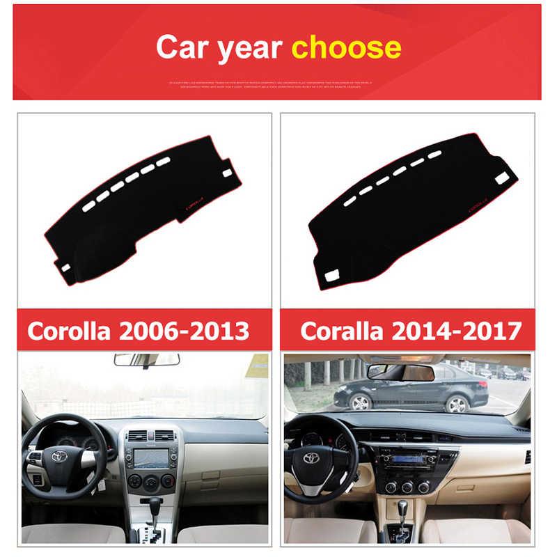 Car Dashboard Avoid Light Pad Instrument Platform Desk Cover Mats Carpets For Toyota Corolla 2006 2013 2014 2015 2016 2017 2018