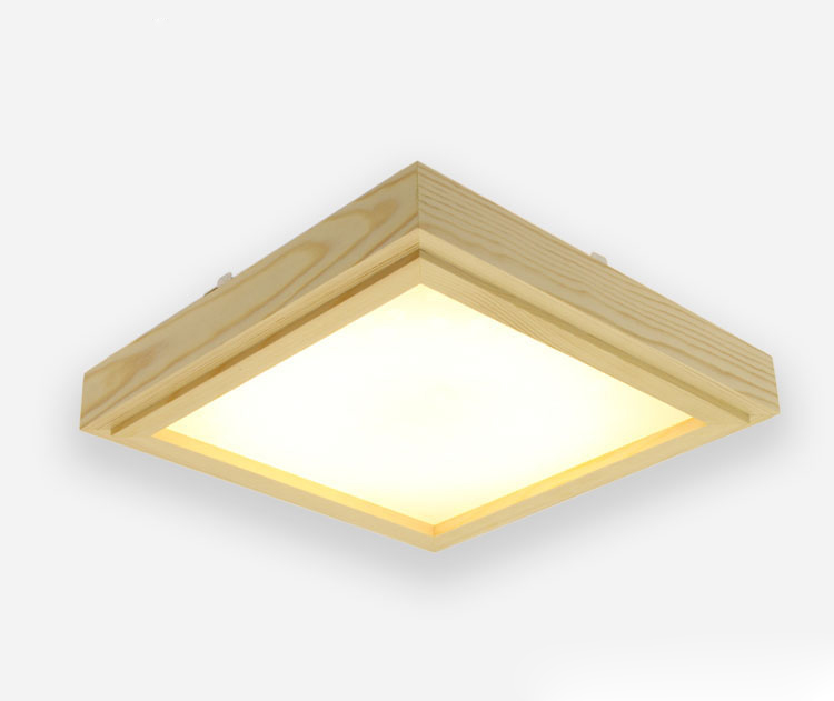 Japanese Style Tatami Wood Ceiling and Pinus Sylvestris Ultra-thin LED 30/33/43cm Wooden LED Lamp Square Ceiling Lamp FixtureJapanese Style Tatami Wood Ceiling and Pinus Sylvestris Ultra-thin LED 30/33/43cm Wooden LED Lamp Square Ceiling Lamp Fixture