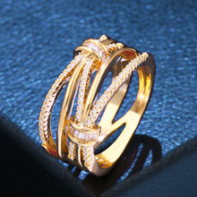 Cubic Zirconia Wave Rings