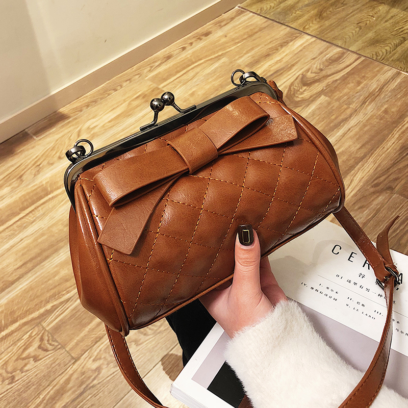 Frame clutch female retro Shell women quilted bag 2019 leather Shoulder handbag small channels luxury designer famous brand tote