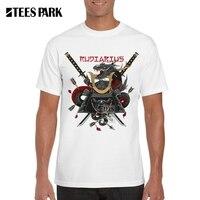 الرجال القمصان اليابانية السامرائي 3d المحارب السيف مطبوعة 100% ٪ أنيمي درع قصيرة الشارع الشهير تي شيرت الجندي t-shirt