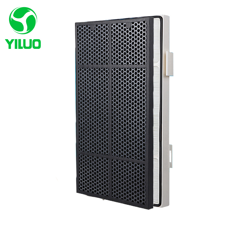 High efficiency hepa filter + activated carbon filter of air purifier parts for 101076CH etc 2016 hot selling car hepa activated carbon filter car air purifier with ce