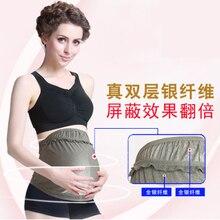 Радиационная защита одежда Материнство платье беременных женщин анти-радиационный фартук носить компьютер Серебряное волокно Материнство платье