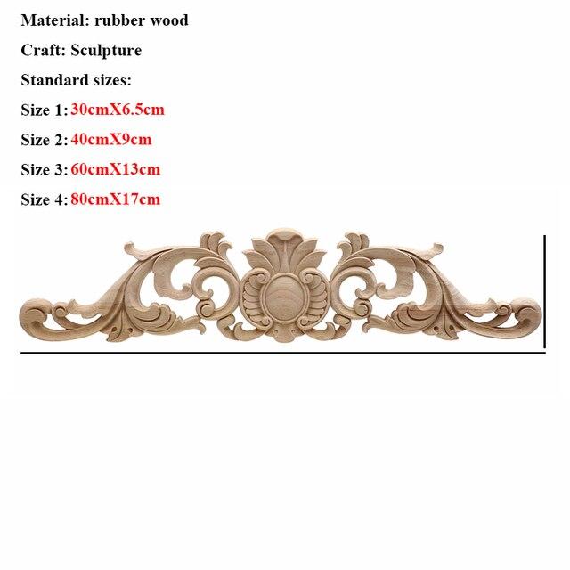 VZLX Floral Wood Carved Corner Applique Vintage Wooden Carving Decal For Furniture Cabinet Door Frame Wall Home Decor Crafts 6
