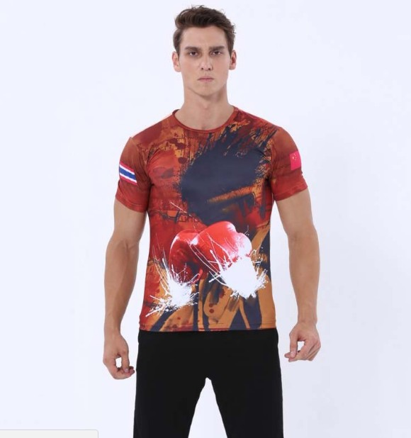 The Glory Of The Warrior Fast Dry Hd Digital Printing For T-shirt Moisture Absorption Sweat Sweat Fitness Training Clothes