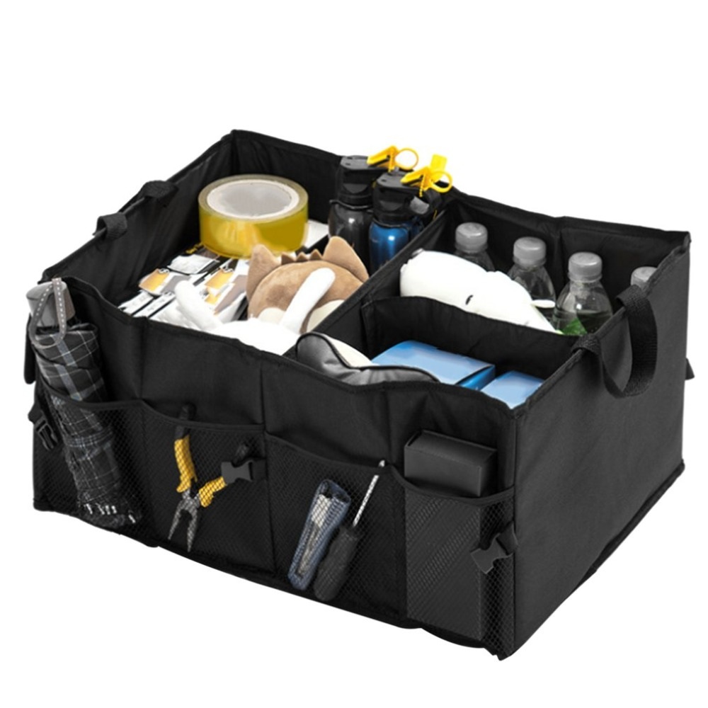 Foldable Auto Car Vehicles Storage Box Waterproof Large Capacity Container Bag Organizer Home Storage Organization