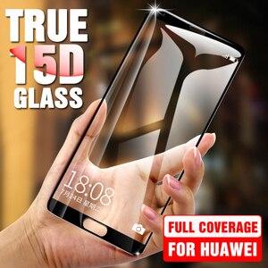 Image 1 - 15D szkło na Huawei P20 P30 Pro folia ochronna na ekran Lite szkło hartowane dla Huawei P10 P9 Plus Lite P20 P30 folia ochronna