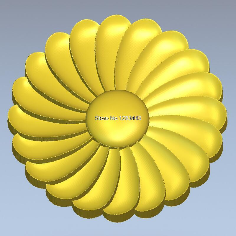 Round flower_006 carved figure floral bed column carved reliefs  3D model for cnc 3D carved figure sculpture machine in STL file martyrs faith hope and love and their mother sophia 3d model relief figure stl format religion for cnc in stl file format