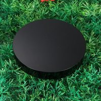 Hot High Quality 100mm Black Obsidian Scrying Mirror Crystal Gemstone Healing Stone Feng Shui Gift Home