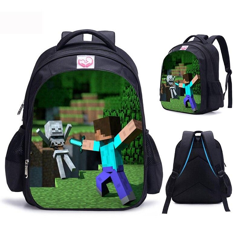7099fd5bcbc0 Рюкзак с тиле Minecraft школьный мультфильм дети рюкзак милый основной  студент школьные ранцы для мальчиков обувь для девочек Детский сад Дети ..