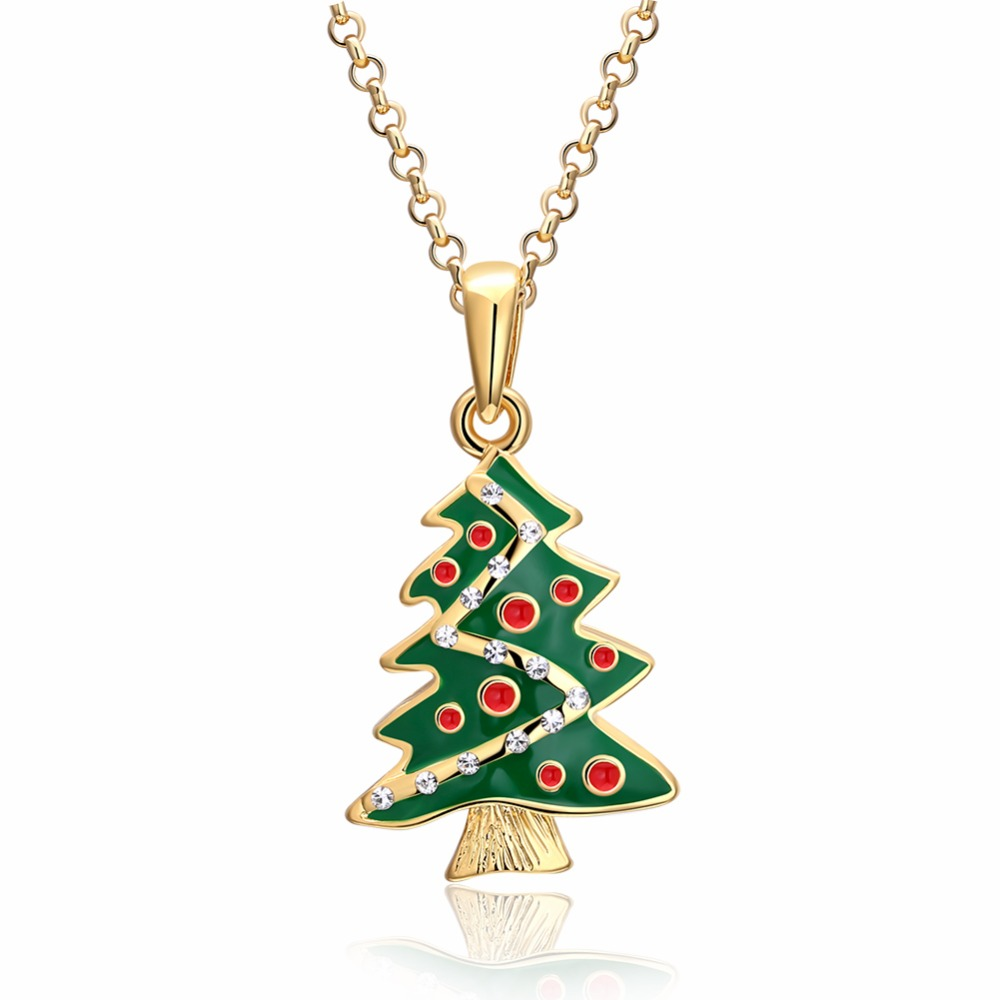 Aliexpress buy fashion cz crystal christmas tree pendant aliexpress buy fashion cz crystal christmas tree pendant necklace for women retro rose gold color chokers necklace christmas gift party jewelry from aloadofball Choice Image