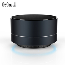 M&J Metal Wireless Bluetooth speaker Read SD TF card Portable speaker Support Calls With Microphone For PC Iphone Sumsang Xiaomi