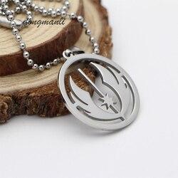 MF1313 1 pc Star Wars Jedi Ordre Collier Titane acier Rebelle armée badge Pendentif collier bijoux accessoires