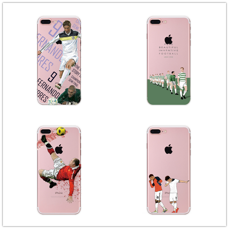 New For Iphone X 8 Plus 5 5s 6 6s 7 7 Plus Football Superstar Winner Football Basketball Mba Soft Tpu Football Clear Phone Case image