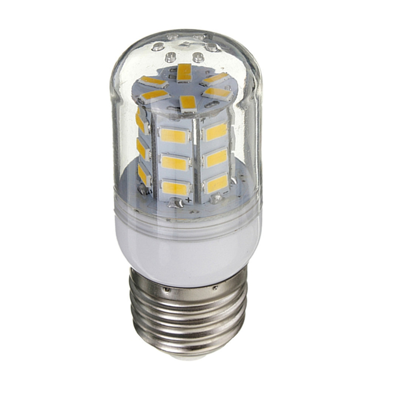 LED E27 12V 27 LEDs Light Bulb 5730 SMD Super Bright Energy Saving Lamp Corn Lights Spotlight Bulb Warm White Lighting smuxi e27 3 5w led bulb 27 5730 smd energy saving corn light lamp with frosted cover pure warm white home lighting 24v