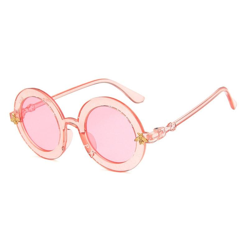 Klassische Bee Kinder Sonnenbrille Jungen Mädchen Luxus Vintage Kinder Sonnenbrille Baby Brille Runde Sonnenbrille Oculos De Sol Uv400 Um Eine Reibungslose üBertragung Zu GewäHrleisten